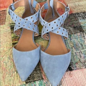 Baby blue flats